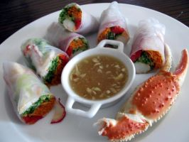 crab salad rolls with nuoc cham my way by chrisravensar