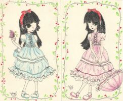 Snow White cards by lydiasieh