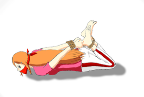 Orihime hogtied by mmmphing
