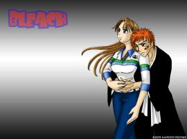 Bleach - Ichigo and Orihime by Pan-Pan