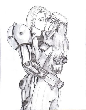 A vos consoles! - Page 2 Samus_and_Zelda_ness_for_Tryn_by_Goddess_Aribelle