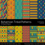 Bohemian Tribal Patterns by MysticEmma