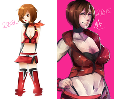 [Draw this Again] Meiko by Master-chan