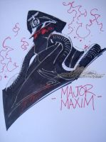 Major Maxim Wondercon Sketch by J-Scott-Campbell