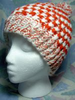 Candy Cane Spiral Hat w'Pompom by SmilingMoonCreations