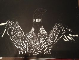 Scratch Art- Loon by Darkshadowarts