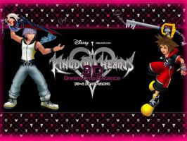 Kingdom Hearts Wallpaper: Kingdom Hearts 3D by AzuraJae