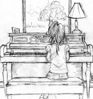 piano girl by diva799