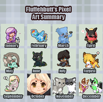 2012 Pixel Art Summmary by FluffehButt