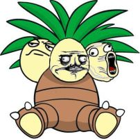 Pokemon - Exeggutor - Exeggumemes - Coloured Face by Rudolftheclown