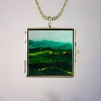 Art Necklace Italy in my heart by NancyvandenBoom