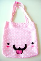 Kawaii Face Tote Bag by deconstructedstars