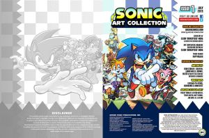 Sonic Art Collection (Inside Front Cover + Page01) by darkspeeds