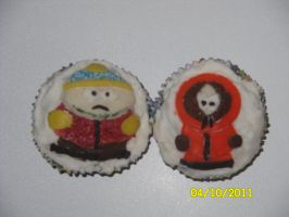 Kenny and Cartman Cupcakes by Dragongirl9888