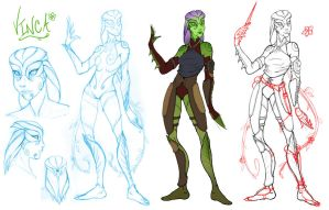 Vinca Character Design, WIP by ladyofdragons