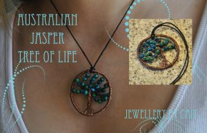 Australian Jasper Tree of Life by tanyquil
