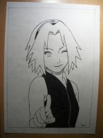 Manga-like sakura by Hlqb