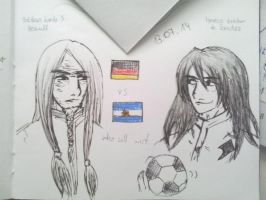 Germany vs Argentina by Jaqie