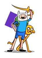 Finn And Jake Fan Art by Mabelma