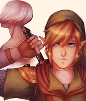 skyward sword -- new master (+speedpaint) by Raven-igma