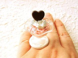 Strawberry Pudding Ring by souzoucreations