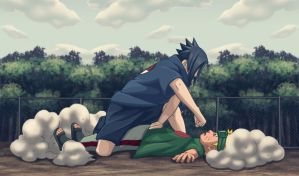 Naruto vs Sasuke by Scaler22