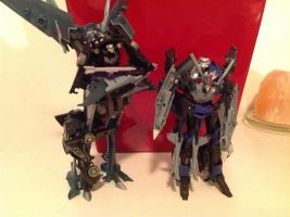 Starscream and Steve: Gift to SKwarp305 by TFP-Steeljaw