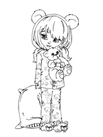 Polar Bear Jammies by JadeDragonne