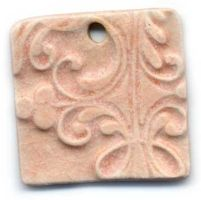 Creamsicle Ceramic Pendant by ChinookDesigns