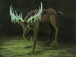 Deer Mushroom Icicle by Alara-Shade