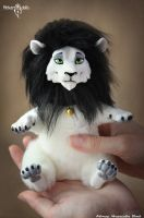 Miniature toy Lion custom by Flicker-Dolls