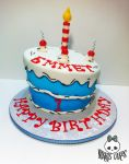 Dr. Suess Inspired Birthday Cake by Corpse-Queen