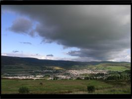 Clouds over the Llynfi Valley by taramara