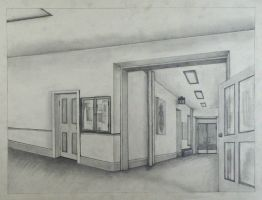two point perspective drawing by Blacksapphire257