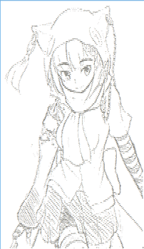 Back to normies (Casual type ISIS-chan art)[ASCII] by ritsuka-chan96