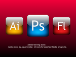 Glowing Adobe Icons by Pixellover