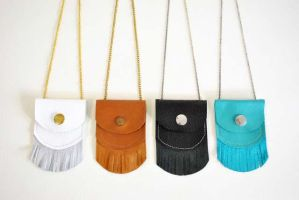 Handmade Leather Treasure Pouch Necklaces by spiritfiredesigns