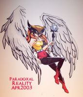 Hawkgirl- in progress by paradoxal