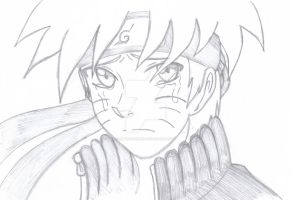 Sketch version Naruto by Little-Shohei