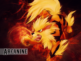 Arcanine Wallpaper by Pink-Chibi