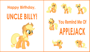 Applejack B-Day Card for my Uncle by rustics