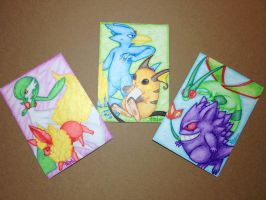 ACEO Trio Pairs by Alouf-Art