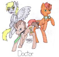 Derpy, Doctor, and Tick-Tock by TheTrueRilouGirl