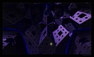 Fractal city at night by arteandreas