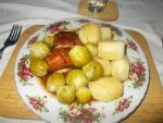 Chicken, Potatoes and Brussel sprouts by FFDP-Neko