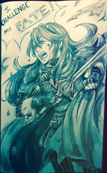 Lucina Quick Pencil Sketch by BleachcakeCosplay