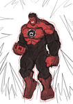 Red Hulk with Red Lantern Ring by hijackupgrade