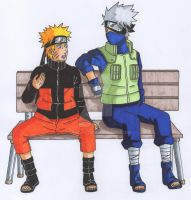 kakashi and naruto cash commission by alpha89