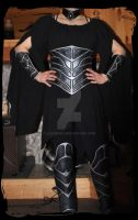 leather corset armor by Lagueuse