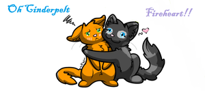Fireheart And Cinderpelt by Firestarx3